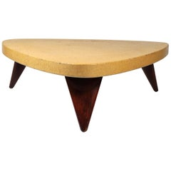 Paul Frankl Cork Top Coffee Table  for Johnson Furniture