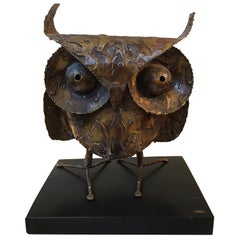 Curtis Jere 1968 Owl on Wood Stand