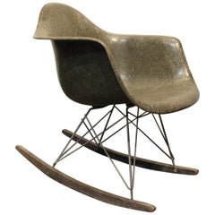 Charles & Ray Eames for Herman Miller Rar Rocking Chair, 1950s, Greige Color