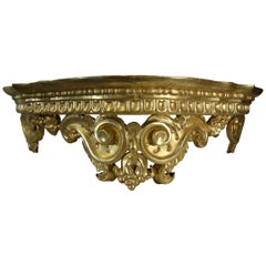 Late 18th Century Antique Italian Louis XIV Baldacchino Wall Mount Bed Crown