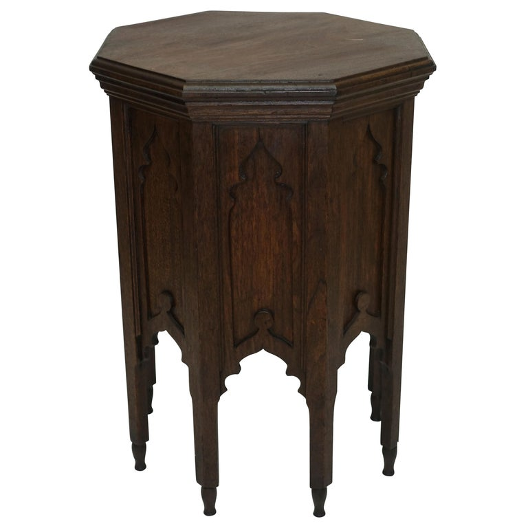 Moroccan Taboret Side Table, Early 20th Century For Sale