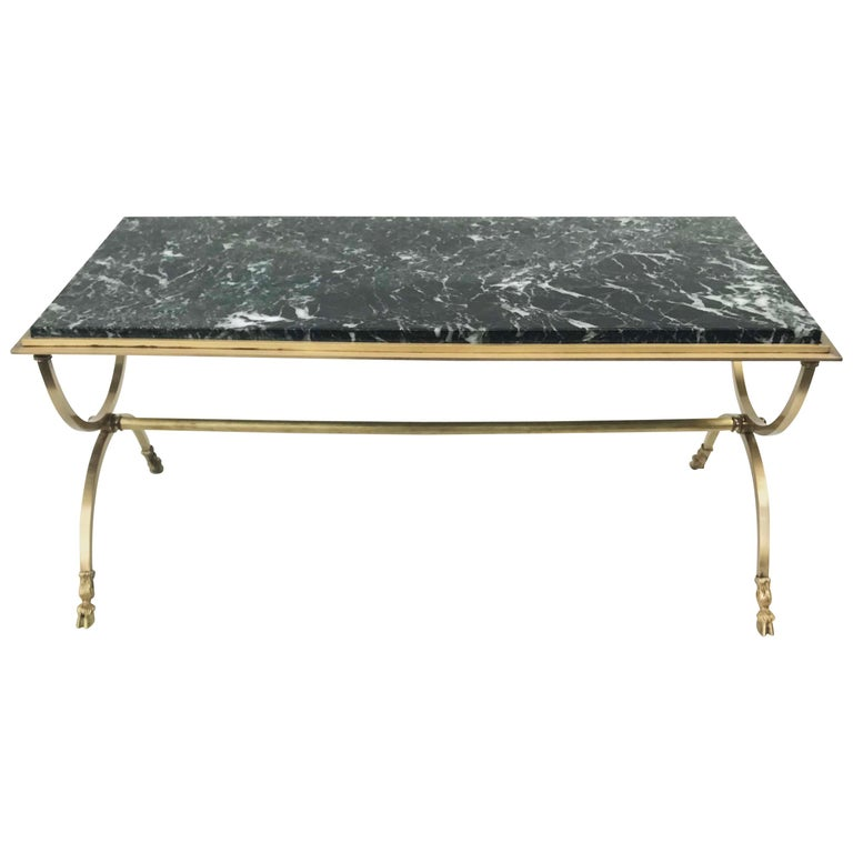 Maison Jansen Bronze And Marble Coffee Table For