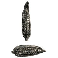 Pair of Corn Sculptures by Aruro Pani