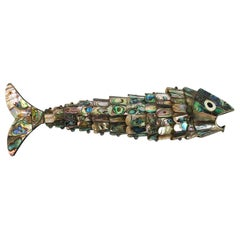 Articulated Mexican Abalone and Brass Bottle Opener