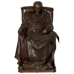 "Bronze Sculpture ""Last Days of Napoleon"" after Model by Vincenzo Vela"