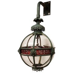 Original 19th Century Copper Globe Lantern Reputedly from Palace of Westminster