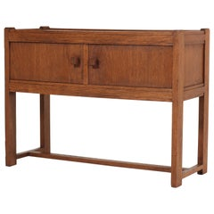Dutch Oak Art Deco Haagse School Credenza, 1920s