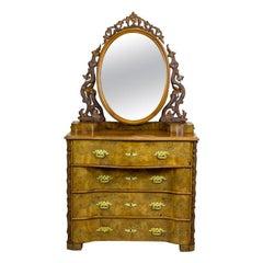 19th Century Louis Philippe Walnut Vanity Table