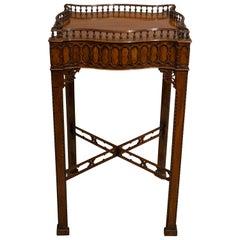 George III Style 19th Century Serpentine Mahogany Table