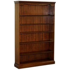 Lovely Large Solid Flamed Mahogany Library Study Bookcase