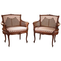 Fine Pair of Marquise Seats After Georges Jacob