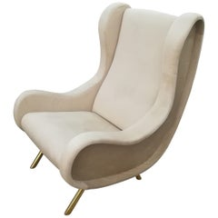 Gorgeous Pair of Armchairs in the Style of Marco Zanuso, circa 1960