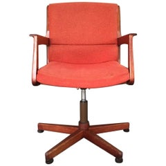 Swivel Danish Teak Chair, 1960s