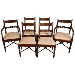 Very Attractive Set of Six Regency Dining Chairs