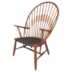 Midcentury Hans Wegner Style Peacock Chair
