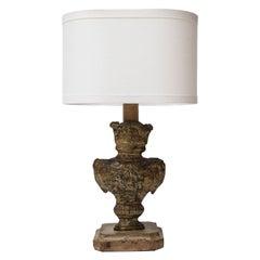 Tole Repousse Table Lamp