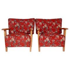 Set of Two Armchair by Designer Hans J. Wegner, 1950s