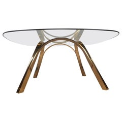 Midcentury Brass Coffee Table after Roger Sprunger for Dunbar