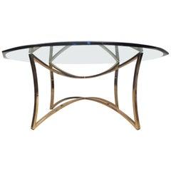 Midcentury Brass Coffee Table