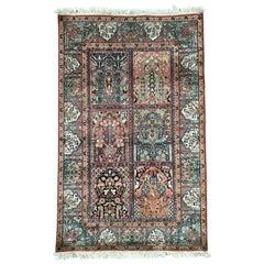 Vintage Kashmir Silk Rug