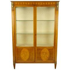 Antique Display Cabinet, Curio Cabinet, Louis XVl Cabinet, Vitrine, 1900