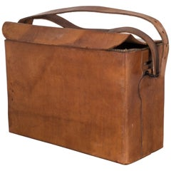 World War ll Era Leather Carrying Case, circa 1940
