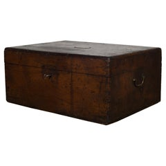 19th Century Mahogany and Brass Silverware Chest from Pennsylvania, circa 1880