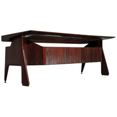 Italian Mid-Century Walnut Executive Desk by Vittorio Dassi, 1950s