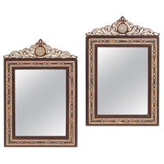 Pair of Middle Eastern Inlaid Mirrors