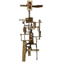 Ibram Lassaw Style Welded Bronze Sculpture Abstract Enamel Brutalist, 1960s