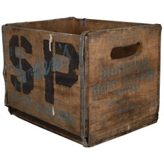 Bordon Dairy Wood and Metal Milk Crate, circa 1940