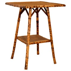 19th Century Square Bamboo Table