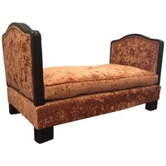 French Art Deco Velvet Daybed