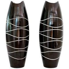 "Scandinavian Modern Pair of ""Atoll"" Vases by Hjördis Oldfors"