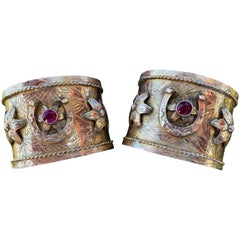 Rare Pair of Gypsy Cuff Bracelet