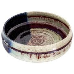 Large Scandinavian Modern Rorstrand Studio Ceramic Bowl by Sylvia Leuchovius