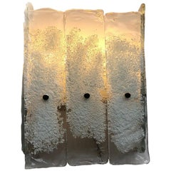 Important Murano Wall Sconces Attributed to Venini, Italy, 1960s