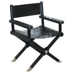 Ralph Lauren Holbrook Director's Armchair Black Leather Office Desk