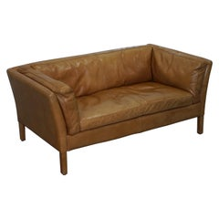 Halo Groucho Leather Small 2-Seat Sofa Matching Armchair Available