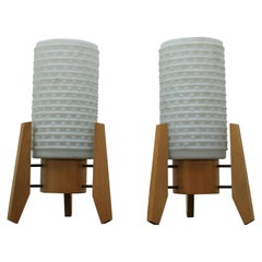 """Pair of Midcentury """"rocket"""" Table Lamps, 1960s"""