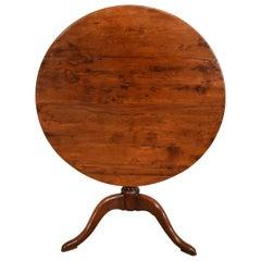 18th Century, Yew Wood circular Tripod Table