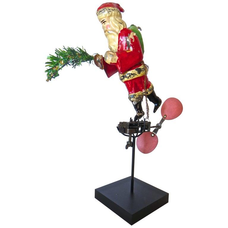 """Flying Santa"" Clockwork Toy/Ornament by Guntherman, Germany, circa 1905, Rare For Sale"