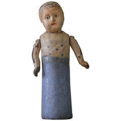 Folk Art Doll of Papier Mâché, 1900