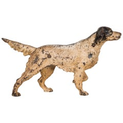 Cast Iron Pointer Dog Doorstop by Hubley, circa 1910-1940
