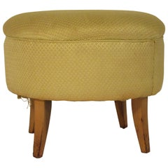 1950s Upholstered Ottoman
