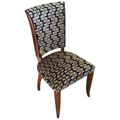 Set of 6 Exceptional Art Deco French Dining Chairs