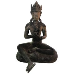 Bronze Seated Chinese Shrine Buddha