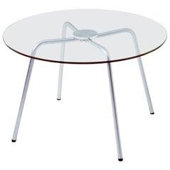 Circular Top Crystal Glass Table