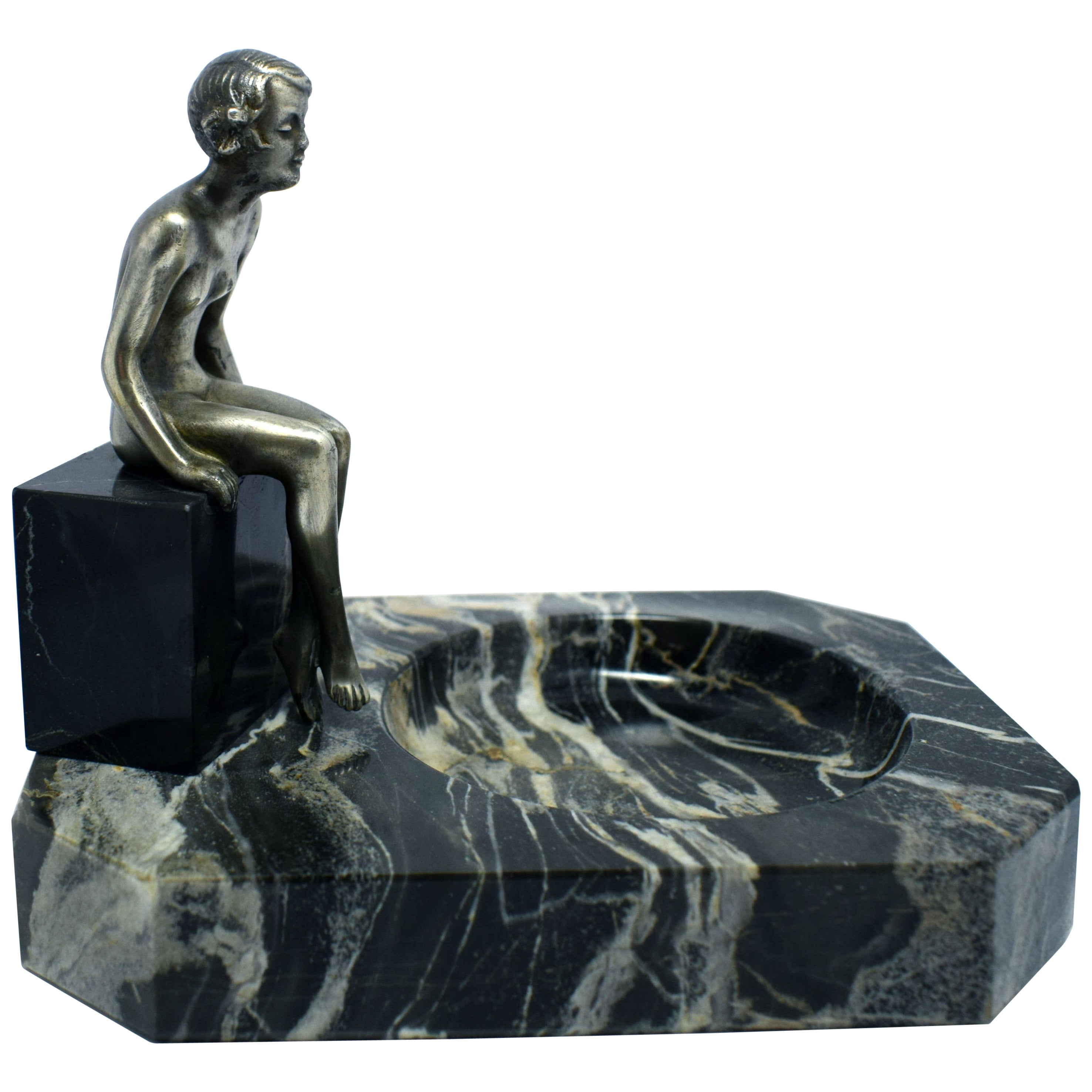 Art Deco Bronze Nude Figure, Josef Lorenzl, Vienna 1930