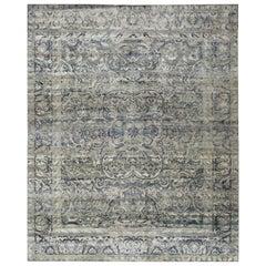 21st Century Multicolored Sari Silk Rug in Tabriz Design